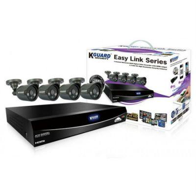 Комплект видеонаблюдения KGuard Security EL421-4HW212B