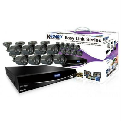 Комплект видеонаблюдения KGuard Security EL1621-8HW212B