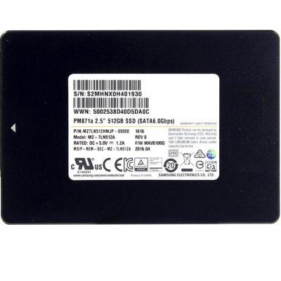 "������������� ���������� Samsung SSD 512 Gb SATA 6Gb / s Samsung PM871a 2.5"" V-NAND TLC (OEM) MZ7LN512HMJP-00000"