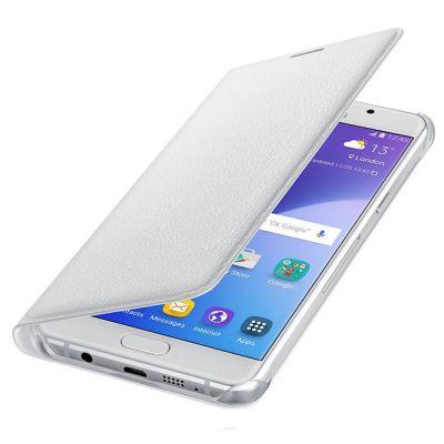 Чехол Samsung (флип-кейс) для Galaxy A5 (2016) Flip Wallet белый EF-WA510PWEGRU