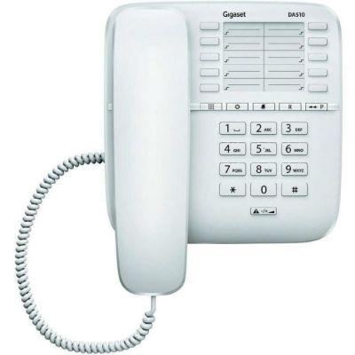 Телефон Gigaset проводной DA510 белый
