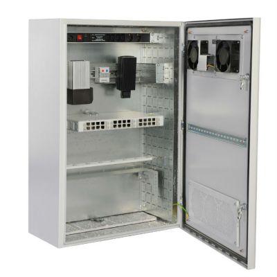 Шкаф ЦМО уличный всепогодный настенный 9U (600х500), передняя дверь вентилируемая ШТВ-Н-9.6.5-4ААА