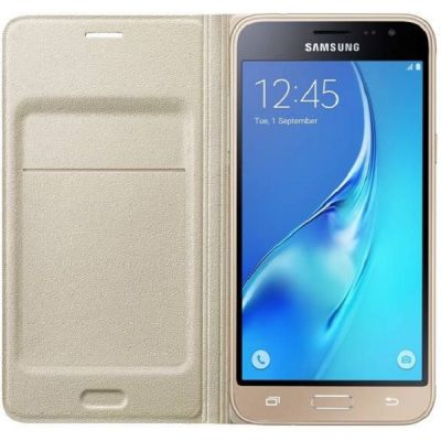����� Samsung (����-����) Flip Wallet, ��� Galaxy J3 (2016), ���������� ef-wj320pfegru