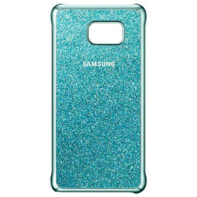 Чехол Samsung (клип-кейс) для Galaxy Note 5 Glitter Cover синий EF-XN920CLEGRU