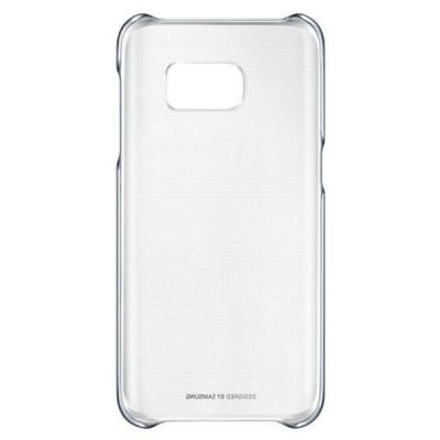 Чехол Samsung (клип-кейс) для Galaxy S7 Clear Cover черный/прозрачный EF-QG930CBEGRU