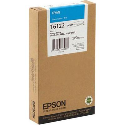 Картридж Epson Cyan/Голубой (C13T612200)