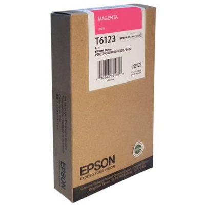 Картридж Epson T6123 Magenta/Пурпурный (C13T612300)