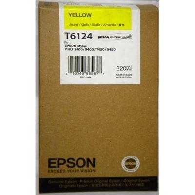 Картридж Epson T6124 Yellow/Желтый (C13T612400)