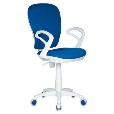 Офисное кресло Бюрократ синее 26-21 (пластик белый) CH-W513