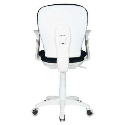 Офисное кресло Бюрократ чёрное 26-28 ткань крестовина пластиковая (пластик белый) CH-W513