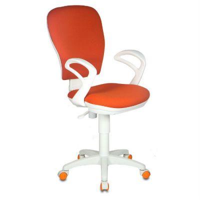 Офисное кресло Бюрократ оранжевое 26-29-1 ткань крестовина пластиковая (пластик белый) CH-W513