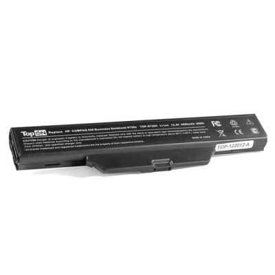 Аккумулятор TopON для HP Compaq Business Notebook 6830s Series 14.4V 4400mAh PN: HSTNN-IB62 HSTNN-OB62 HSTNN-XB62 Черный TOP-6720-14V