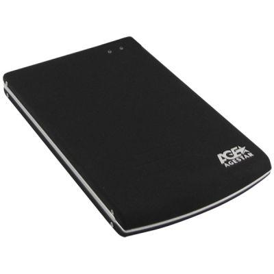 Agestar Внешний бокс для 2.5 HDD, алюм,черн, USB2.0 (Black) SUB2O5