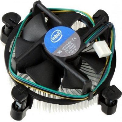 Кулер для процессора Intel Original Copper Base Soc-1150/1155/1156/ 4pin 18-38dB Al+Cu 105W 240g клипсы OEM
