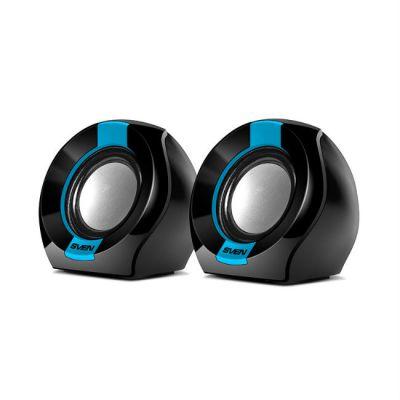 Колонки Sven 150 2.0 черный/синий 5Вт портативные