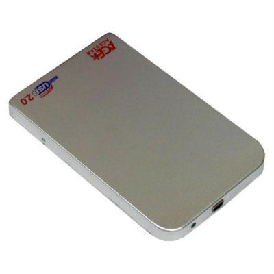 "Адаптер Agestar Внешний корпус для HDD SUB201 SATA алюминий серебристый 2.5"""