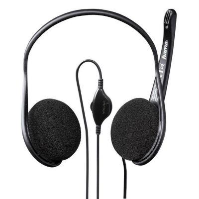 Наушники с микрофоном Hama Black Stripe черный