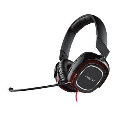 Наушники с микрофоном Creative HS 880 Draco черный/красный