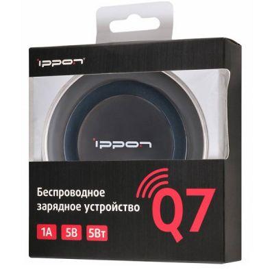 Ippon Беспроводное зар./устр. 1A универсальное кабель microUSB черный (Q7)