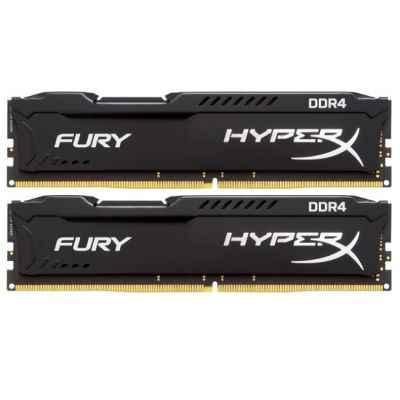 Оперативная память Kingston HyperX Fury DIMM 32GB Kit (2x 16GB), DDR4-2133MHz CL14 HX421C14FBK2/32