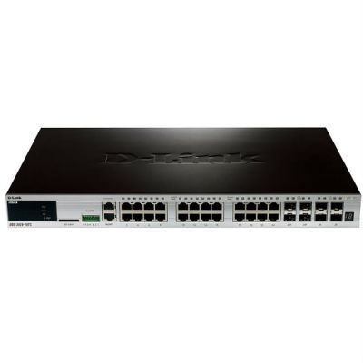 Коммутатор D-Link DGS-3420-28TC/B1A, 24-ports 10/100/1000Base-T L2+ Stackable Management Switch