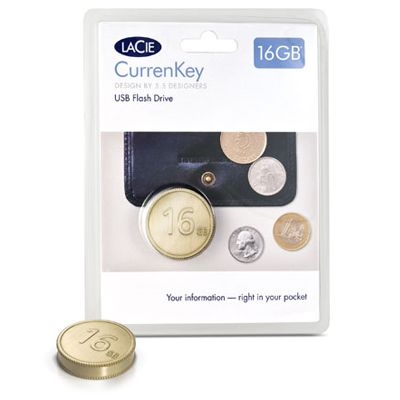 ������ LaCie 16Gb CurrenKey USB Gold 130827
