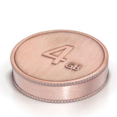 Флешка LaCie 4Gb CurrenKey USB Bronze 130825