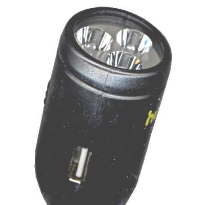 Зарядное устройство Human Friends автомобильное USB+USB, до 1.5А, Max Power Flash, 3 светодиода 016684