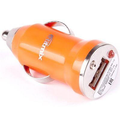 Зарядное устройство Ritmix автомобильное для USB, 1А RM-112 оранжевое 017433