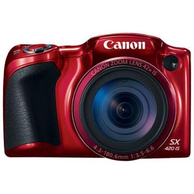 Зеркальный фотоаппарат Canon PowerShot SX420 IS красный