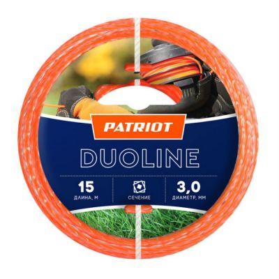 Леска триммерная Patriot Duoline d=3.0мм L=15м