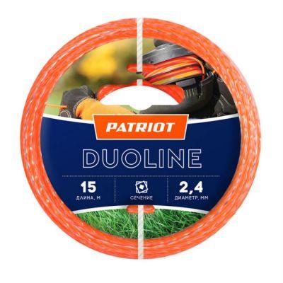 Леска триммерная Patriot Duoline d=2.4мм L=15м