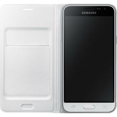Чехол Samsung флип-кейс для Samsung Galaxy J3 Flip Wallet белый EF-WJ320PWEGRU