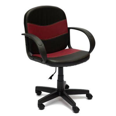 Офисное кресло Тетчер BAGGI кож/зам, (черный/бордо)