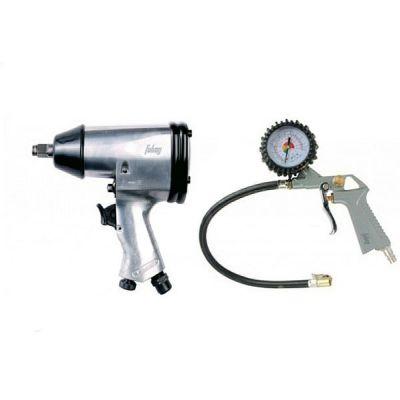 Набор Fubag пневмоинструмента 2 предмета (гайковерт + пистолет для накачки шин с манометром) 120105