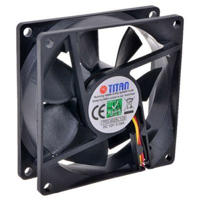 Вентилятор Titan для корпуса 80x80x25 mm, sleeve, 3-PIN, 2000 RPM, 23 dBA TFD-8025L12S