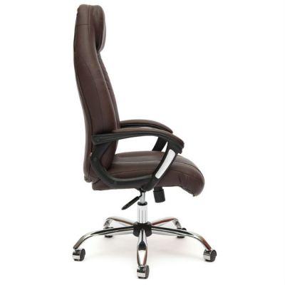 Офисное кресло Тетчер BOSS хром кож/зам, (коричневый/коричневый перфорированный)