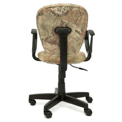 """Офисное кресло Тетчер СН413 ткань, """"Карта на бежевом"""""""