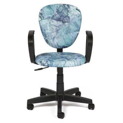 """Офисное кресло Тетчер СН413 ткань, """"Карта на синем"""""""