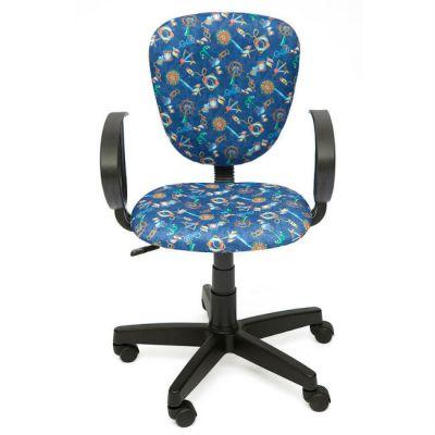 """Офисное кресло Тетчер СН413 ткань,""""Якоря на синем"""""""
