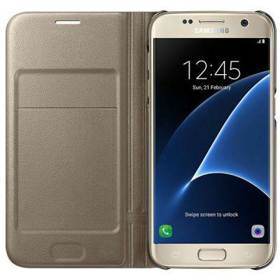 Samsung Чехол (флип-кейс) Samsung для Samsung Galaxy S7 LED View Cover золотистый EF-NG930PFEGRU