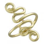 Кольцо(без камня)желтое золото585 пробы,вес: 1,44 г
