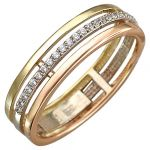 Кольцо(дорожка)комбинированное золото585 пробы,вес: 2,82 г