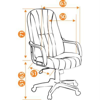Офисное кресло Тетчер СН767 кож/зам, черный