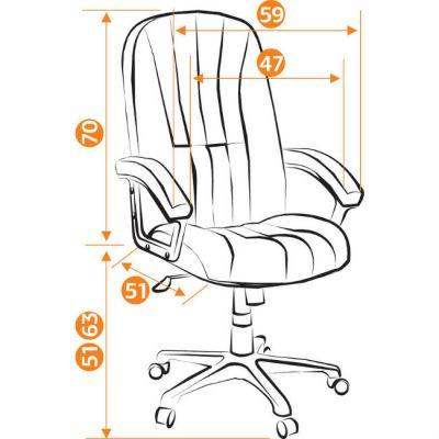 Офисное кресло Тетчер СН888 ткань, черный