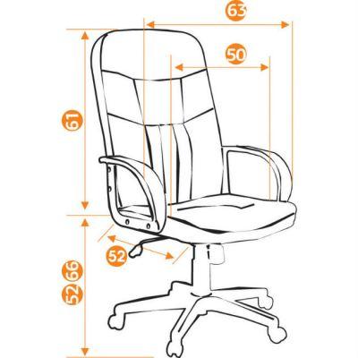 Офисное кресло Тетчер СН903 кож/зам, черный