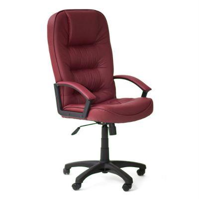 Офисное кресло Тетчер СН9944 пластик, кож/зам, бордо