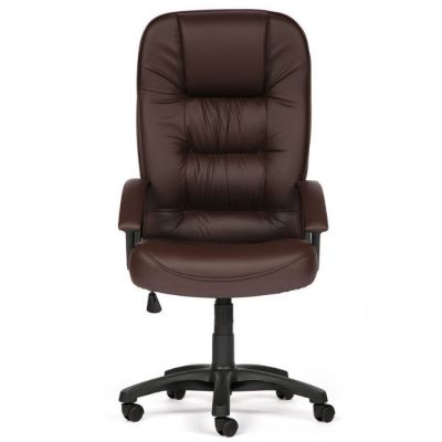 Офисное кресло Тетчер СН9944 пластик, кож/зам, коричневый
