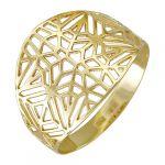 Кольцо(широкое)желтое золото585 пробы,вес: 1,95 г