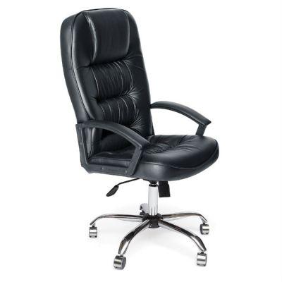 Офисное кресло Тетчер СН9944 Хром, кож/зам, черный